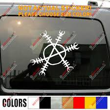 Helm Of Awe Decal Sticker Vegvisir Viking Odin Norse Norway Car Vinyl Round B