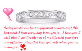 happy st engagement anniversary status for fiance and wife