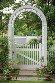 Activeyards Vinyl Fence Arbor And Gate Traditional Landscape Raleigh By Harrison Fence