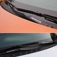 2pcs Sport Engine Hood Window Windshield Wiper Sticker Center Console Dashboard Decal Vinyl For Hyundai Avante Md Avante Ad Car Stickers Aliexpress