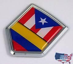 Collectibles Transportation Automobilia Puerto Rico Colombia Flag Car Decal Sticker 273co Zsco Iq