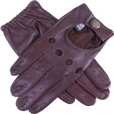 dents delta brown leather driving