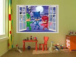 Wall Decal For Pj Masks Owlett Catboy Gecko Decor Kids Window Kids Room 7 49 Picclick