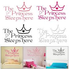 Princess Sleeps Here Bedroom Wall Stickers Living Room Children Decoration 1pcs Buy At A Low Prices On Joom E Commerce Platform