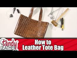 simple how to make a leather tote bag