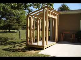 build a lean to style storage shed