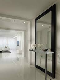 foyer or entrance large wall mirror