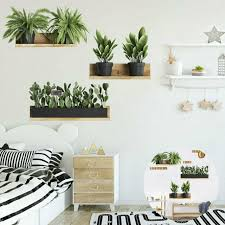diy tropical leaf wall decals nodic