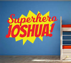 Superhero Burst Wall Decal Personalized Name Vinyl Wall Stickers For Kids Rooms Comic Book Boys Bedroom Custom Name Decor Syy662 Sticker For Kids Room Vinyl Wall Stickerswall Stickers For Kids Aliexpress