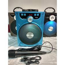 4E[P9008] Loa karaoke bluetooth xách tay + 1 Mic dây echo hút âm ...