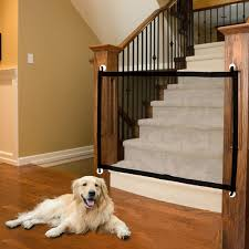 Amazon Com Charminer Pet Gate Baby Gate Safety Magic Enclosure Net Extra Wide Retractable Adjustable Portable Folding Mesh Dog Gate 40 4 Inch For Hall Doorways Stair Outdoor Easy To Install Black Baby
