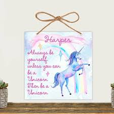Harriet Bee Dallan Childrens Room Unicorn Personalized Banner Wayfair