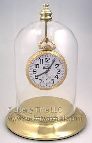 gold plated metal pocket watch glass