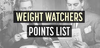 weight watchers points list 99 most