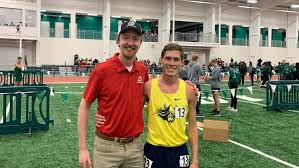 """Augustana Track/XC on Twitter: """"Aaron Runge breaks the men's indoor 5K  record with former record holder (and current MSUM assistant) Glen Ellingson  on hand to watch! 14:18.76 and a provisional qualifier! Jesus"""
