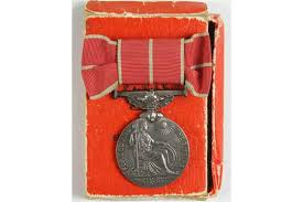 British Empire Medal (Mily) named CH.WREN CK.(S) Ada Cox 9108 WRNS. With  box of issue