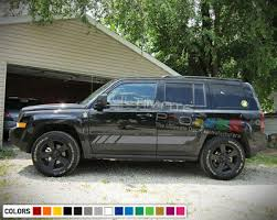 Sticker Decal Vinyl Side Stripe Kit For Jeep Patriot Phone Cup Holder Seat Cover Ebay