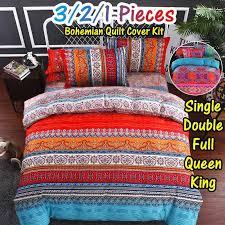 bohemian stripe bedding set vintage