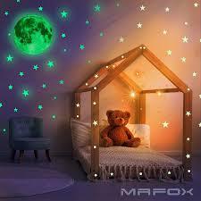 Star Moon Sticker Wall Ceiling Decor Glow In Dark Kids Room Toddler Nursery New 600291907226 Ebay