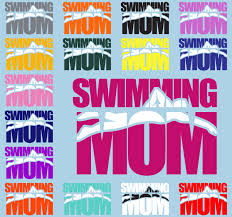 Swimming Mom Decal Swimming Mom Sticker Mom Decal Sports Mom Decal Vinyl Decal Car Decal Sports Decals Auto Wind Swim Mom Sports Mom Sports Decals