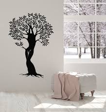 Vinyl Wall Decal Abstract Nature Girl Tree Branches Leaves Stickers Mu Wallstickers4you