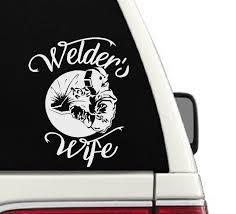 Amazon Com Welder S Wife Car Decal Cd46 Handmade