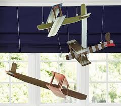 Wood Hanging Biplane Pottery Barn Kids Airplane Decor Baby Furniture