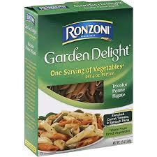 ronzoni garden delight penne rigati