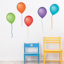 Balloon Wall Decals Eco Friendly Removable And Reusable Peel And Stic