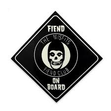 Official Misfits Records Fiend On Board Sticker Misfits Records