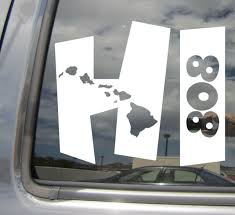 Hawaiian Islands Hi Hawaii Art Vinyl Decal Sticker Caps Block Letters For Sale Online Ebay