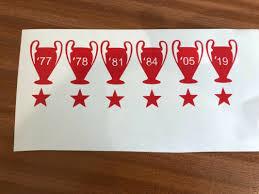 Lfc Liverpool Anfield Vinyl Sticker Decal Laptop Car Vw Lfc 5 European Cups Archives Midweek Com