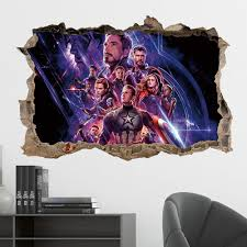 38 57cm Marvel Avengers Series Diy 3d Wall Stickers For Kids Rooms Home Decor Wall Art Pvc Posters Stickers Cartoon Waterproof Stickers Aliexpress
