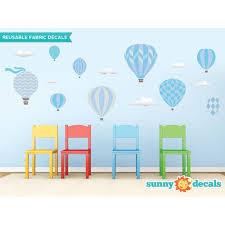 Sunny Decals Hot Air Balloons Fabric Wall Decal Walmart Com Walmart Com