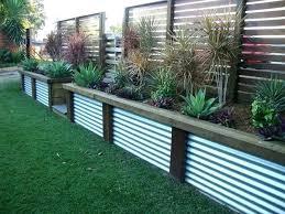 Corrugated Metal Fence Garden Landscaping Retaining Walls Garden Fence Panels Backyard Retaining Walls