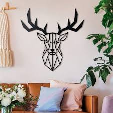 Hoagard Deer Head Metal Wall Art