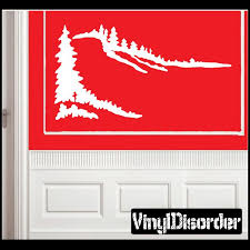 Landscape Tree Line Wall Decal Vinyl Decal Car Decal Ns021 Horse Wall Decals Family Wall Decals Vinyl Wall Decals