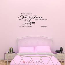 I Will Lie Down And Sleep In Peace Wall Lettering Psalm 4 8 Etsy