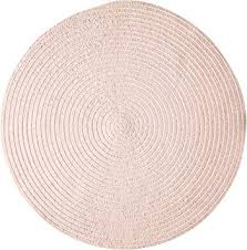 round rug 6 feet blush pink