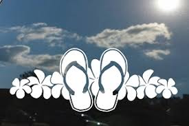 Flip Flops Decals Stickers Decalboy