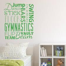 Gymnastics Wall Decals Gymnastics Room Decor