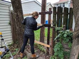 Attaching A Wood Fence To A Chainlink Fence And Then We Tried