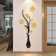 Amazon Com Hermione Baby 3d Vase Wall Murals For Living Room Bedroom Sofa Backdrop Tv Wall Background Originality Stickers Gift Diy Wall Decal Wall Decor Wall Decorations Yellow 59 X 23 Inches Home