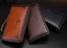 luxury leather men s clutch wallet
