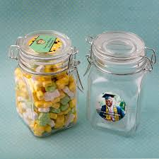 personalized large glass apothecary jar