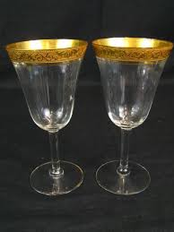 wine glasses cystal water goblets