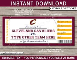 cleveland cavaliers game ticket gift