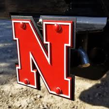 University Of Nebraska Car Accessories Hitch Covers Nebraska Huskers Auto Decals Bigtenstore Com