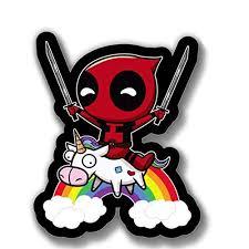Deadpool Swords Unicorn Sticker Funny Buy Online In Cambodia At Desertcart
