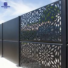China Exterior Laser Cut Decorative Aluminum Panel Gate Fence China Gate Aluminum Fence